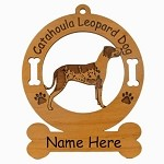 2078 Catahoula Leopard Dog Standing Ornament Personalized with Your Dog's Name