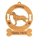 2096 Chesapeake Bay Retriever Standing #2 Ornament Personalized with Your Dog's Name