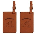 Chihuahua Down Luggage Tag 2 Pack L2109