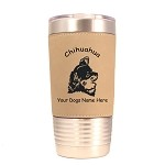 2110 Chihuahua Head #1 20 oz Polar Camel Tumbler with Lid Personalized with Your Dog's Name