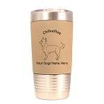 2111 Chihuahua Smooth Standing #1 20 oz Polar Camel Tumbler with Lid Personalized with Your Dog's Name