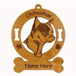 2112 Chihuahua Head 2 Ornament Personalized with Your Dog's Name