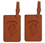 Chihuahua Head Smooth Luggage Tag 2 Pack L2113