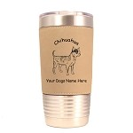 2114 Chihuahua Smooth Standing #1 20 oz Polar Camel Tumbler with Lid Personalized with Your Dog's Name