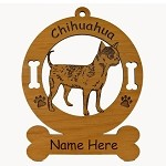 2114 Chihuahua Standing Smooth Ornament Personalized with Your Dog's Name