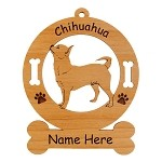 2116 Chihuahua Standing #3 Ornament Personalized with Your Dog's Name