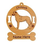 2129 Chinook Standing #2 Ornament Personalized with Your Dog's Name