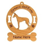 2133 Cirneco dell' Etna Standing #2 Ornament Personalized with Your Dog's Name