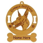 2134 Cirneco dell' Etna Head #2 Ornament Personalized with Your Dog's Name