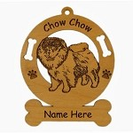 2138 Chow Standing Ornament Personalized with Your Dog's Name