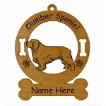 2152 Clumber Spaniel Standing Ornament Personalized with Your Dog's Name