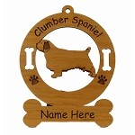 2153 Clumber Spaniel Standing 2 Ornament Personalized with Your Dog's Name