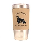 2168 Cocker Spaniel Black Standing #1 20 oz Polar Camel Tumbler with Lid Personalized with Your Dog's Name