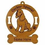 2170 Cocker Spaniel Sitting Ornament Personalized with Your Dog's Name