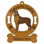 2185 Collie Smooth Standing Ornament Personalized with Your Dog's Name