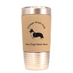 2196 Cardigan Welsh Corgi Standing #1 20 oz Polar Camel Tumbler with Lid Personalized with Your Dog's Name