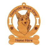 3001 Pembroke Corgi Head Personalized With Your Dog's Name