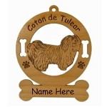 3012 Coton de Tulear Standing Ornament Personalized with Your Dog's Name