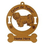 3013 Coton de Tulear Standing 2 Ornament Personalized with Your Dog's Name