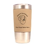 3036 Dachshund Smooth Head #1 20 oz Polar Camel Tumbler with Lid Personalized with Your Dog's Name