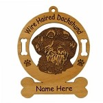 3037 Dachshund Head Wire Ornament Personalized with Your Dog's Name