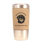 3037 Dachshund Wirehair Head #1 20 oz Polar Camel Tumbler with Lid Personalized with Your Dog's Name   (