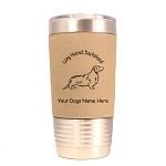 3038 Dachshund Longhair Standing #1 20 oz Polar Camel Tumbler with Lid Personalized with Your Dog's Name