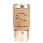 3040 Dachshund Smooth Standing #1 20 oz Polar Camel Tumbler with Lid Personalized with Your Dog's Name