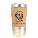 3044 Dalmatian Head #1 20 oz Polar Camel Tumbler with Lid Personalized with Your Dog's Name