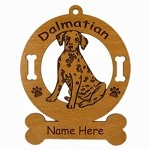 3045 Dalmatian Sitting Ornament Personalized with Your Dog's Name