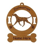 3049 Dalmatian Gaiting Ornament Personalized with Your Dog's Name