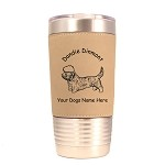 3061 Dandie Dinmont Standing #1 20 oz Polar Camel Tumbler with Lid Personalized with Your Dog's Name