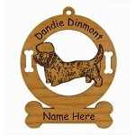 3061 Dandie Dinmont Standing Ornament Personalized with Your Dog's Name