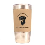 3080 Doberman Uncropped Head #1 20 oz Polar Camel Tumbler with Lid Personalized with Your Dog's Name