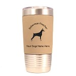 3085 Doberman Standing #1 20 oz Polar Camel Tumbler with Lid Personalized with Your Dog's Name