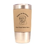 3120 Dogue de Bordeaux Head #1 20 oz Polar Camel Tumbler with Lid Personalized with Your Dog's Name