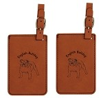 English Bulldog Luggage Tag 2 Pack L3129