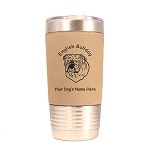 3131 English Bulldog Head #1 20 oz Polar Camel Tumbler with Lid Personalized with Your Dog's Name
