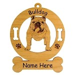 3132 English Bulldog Standing #2 Ornament Personalized with Your Dog's Name