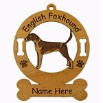 3140 English Foxhound Standing Ornament Personalized with Your Dog's Name