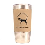 3140 English Foxhound Standing #1 20 oz Polar Camel Tumbler with Lid Personalized with Your Dog's Name