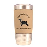 3150 English Cocker Spaniel Standing #1 20 oz Polar Camel Tumbler with Lid Personalized with Your Dog's Name