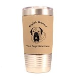 3155 English Mastiff Head #1 20 oz Polar Camel Tumbler with Lid Personalized with Your Dog's