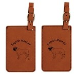 English Mastiff Standing Luggage Tag 2 Pack L3156