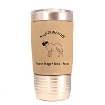 3156 English Mastiff Standing #1 20 oz Polar Camel Tumbler with Lid Personalized with Your Dog's Name