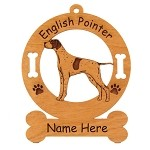 3157c  English Pointer Standing Ornament Personalized with Your Dog's Name