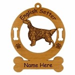 3158  English Setter Standing Ornament Personalized with Your Dog's Name