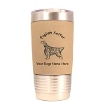 3158 English Setter Standing #1 20 oz Polar Camel Tumbler with Lid Personalized with Your Dog's Name