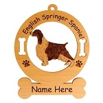 3165  English Springer Spaniel Standing Ornament Personalized with Your Dog's Name