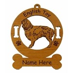 3170  English Toy Standing Ornament Personalized with Your Dog's Name